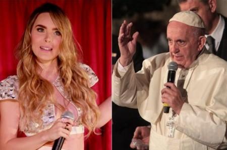 Valentina Alazraki aclara comentario sobre Belinda y el Papa