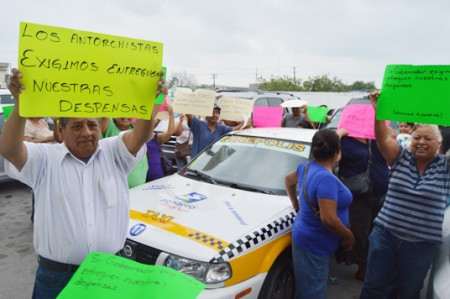 Exigen despensas del programa Prospera en Reynosa