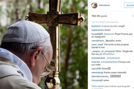 Papa Francisco supera un millón de seguidores en Instagram