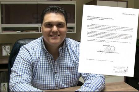 Renuncia Prieto a diputación plurinominal del PAN