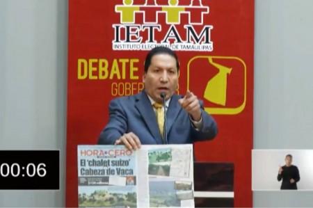 Exhiben 'chalet suizo' de Cabeza de Vaca en debate