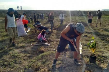 Siembran árboles para detener avance del proyecto del NAICM
