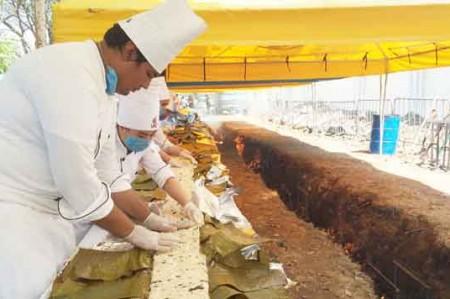 Logran récord Guinness con tamal gigante en Tabasco