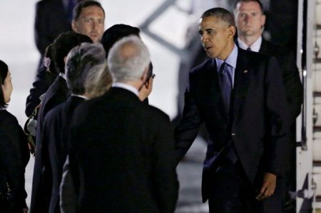Obama llega a Japón para cumbre del G-7 y visitar Hiroshima