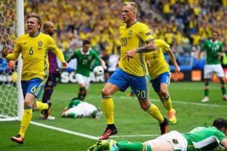 Suecia rescata empate de 1-1 con autogol de Irlanda
