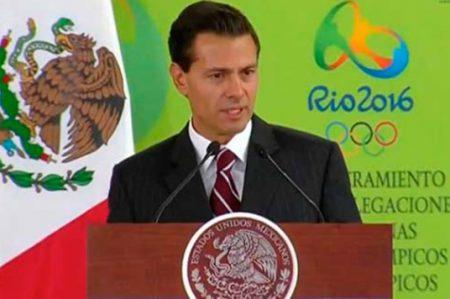 EPN desea éxito a los competidores mexicanos de Río 2016