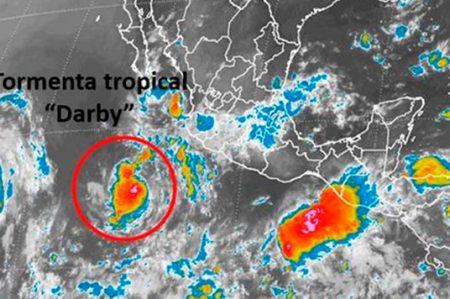 Reportan formación de tormenta tropical 'Darby' en el Pacífico