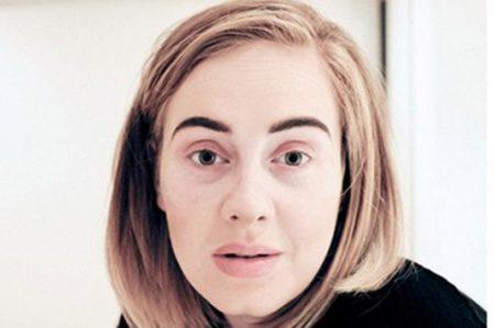 Adele comparte fotografía sin maquillaje