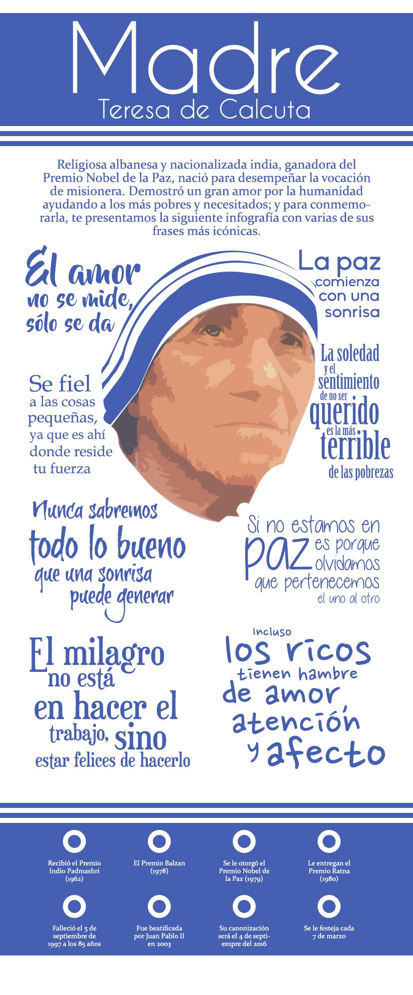 8 Frases De La Madre Teresa De Calcuta Hora Cero Web