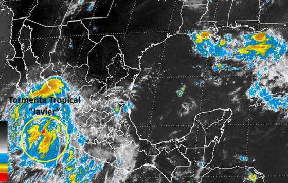 BCS emite alerta naranja por tormenta tropical 'Javier'
