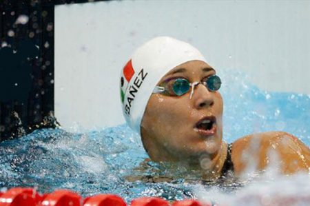 Nadadora Liliana Ibáñez, eliminada en 50 metros libres