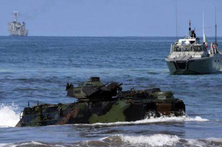 México y EU coordinan ejercicios con vehículos anfibios