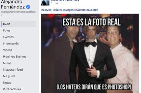 Alejandro Fernández avergonzado pero divertido