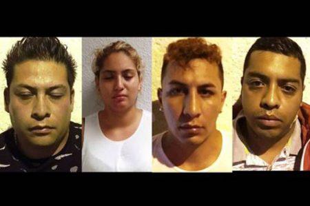 Detienen a cinco asaltantes de clientes bancarios