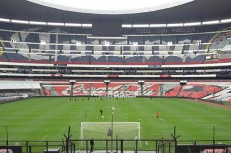 Tri hace prácticas en el Estadio Azteca