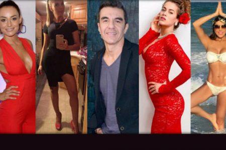 Adrián Uribe y sus 'despampanantes' novias