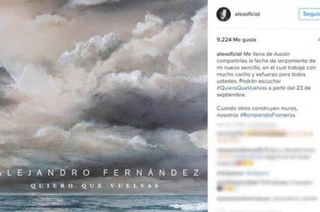 Alejandro Fernández anuncia nuevo sencillo
