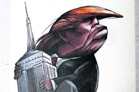 Trump, material para caricaturistas