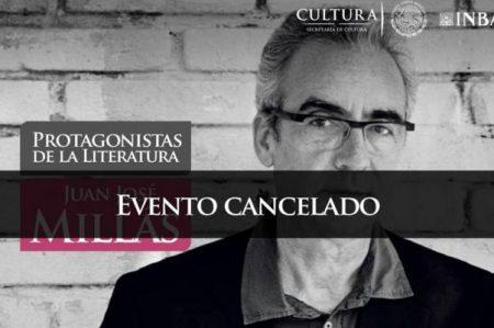 Cancelan charla con Juan José Millás en Bellas Artes