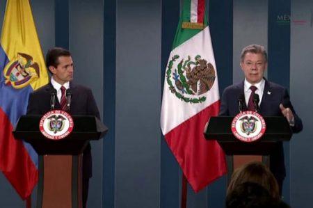 Felicita Peña Nieto a Santos por Premio Nobel