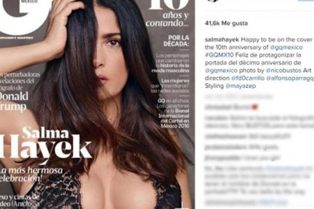 Salma Hayek, sexy en portada de revista