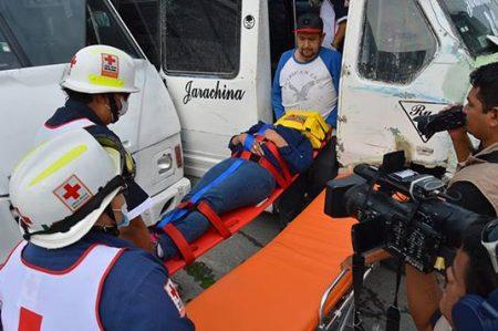 'Peserazo' deja siete lesionados en bulevar Hidalgo