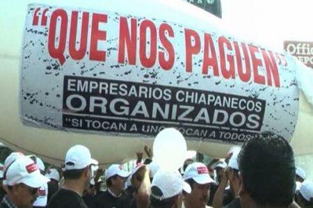 Empresarios protestan en Chiapas; exigen reactivar comercios
