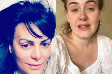 Famosas se quitan el maquillaje y sorprenden