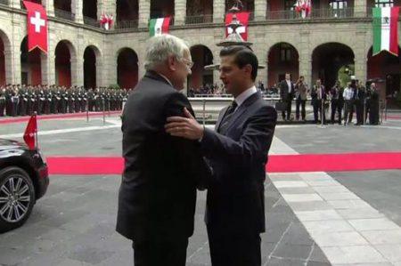 Peña recibe a Presidente de Suiza