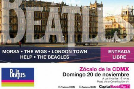 Realizarán homenaje a The Beatles en el Zócalo el próximo domingo