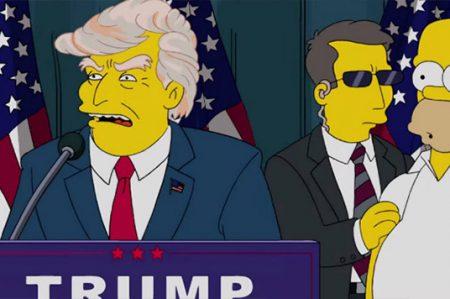 Simpson 'proféticos' hicieron presidente de EU a Trump