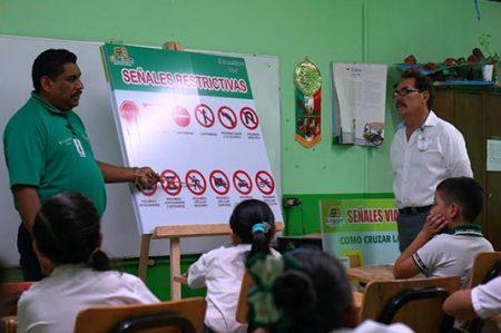 Implementan Programa de Educación Vial en Escuelas