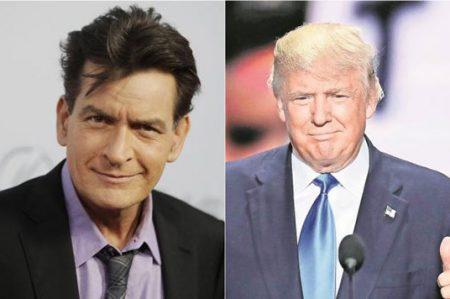 Charlie Sheen pide a Dios llevarse a Donald Trump
