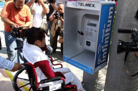 Discapacitados contarán con cabinas de teléfono
