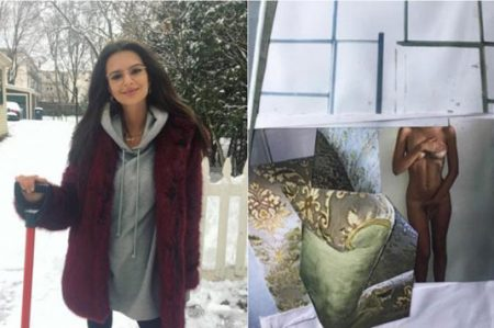 Emily Ratajkowski comparte sexy postal navideña