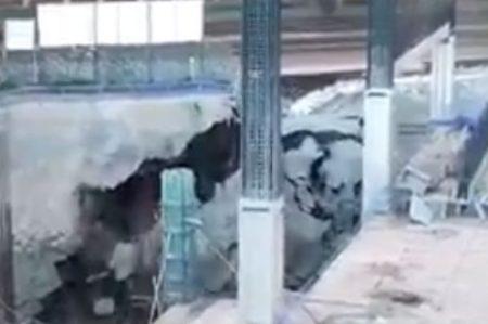 Difunden nuevo video de derrumbe en Periférico Sur