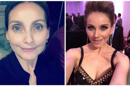 Elizabeth Álvarez posa sin maquillaje