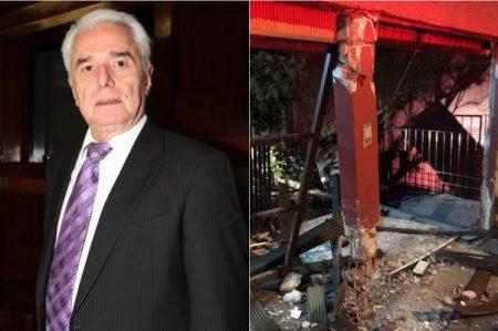 Persona ebria destruye fachada de la casa de Enrique Guzmán