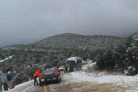Por nevada, PF cierra carretera entre Sonora y Chihuahua