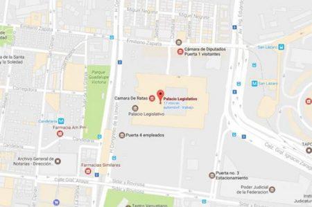 Cambian nombre a Cámara de Senadores y Diputados en Google Maps