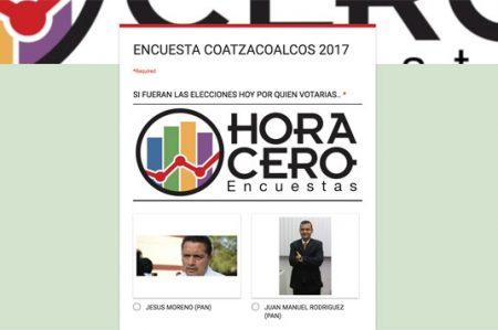 Falsifican encuesta de Hora Cero en Coatzacoalcos
