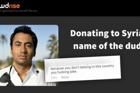 Con insulto racista Kal Penn recauda 500 mil dólares para refugiados