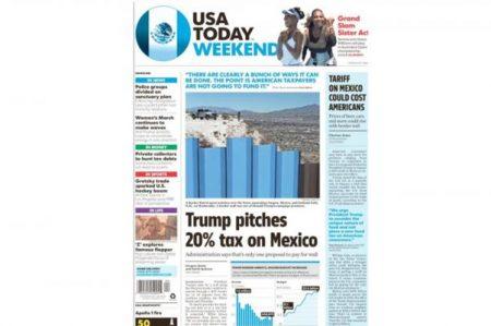 Diario USA Today cambia su logo por la bandera de México