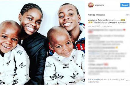 Madonna publica foto de sus hijos adoptados