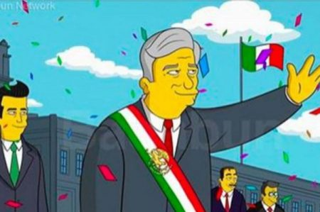 El presidente de México en 2018 al estilo de 'Los Simpsons'