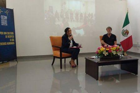 Busca CEDH fomentar paz en las escuelas a través de talleres