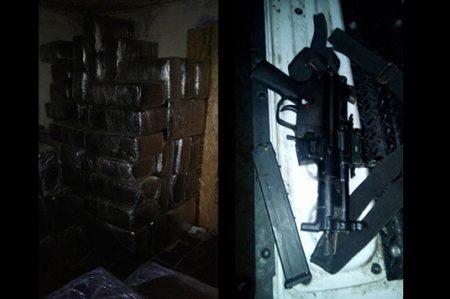 Aseguran 400 kilos de marihuana y armas en Nuevo Laredo