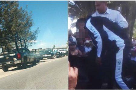 En Hidalgo pobladores sacan a menor de escuela para lincharlo