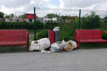 Parque Lineal de Reynosa se convierte en basurero