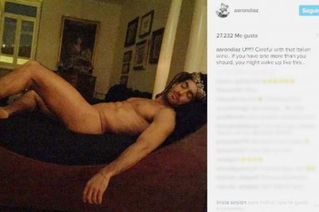 Sorprende foto de Aarón Díaz desnudo